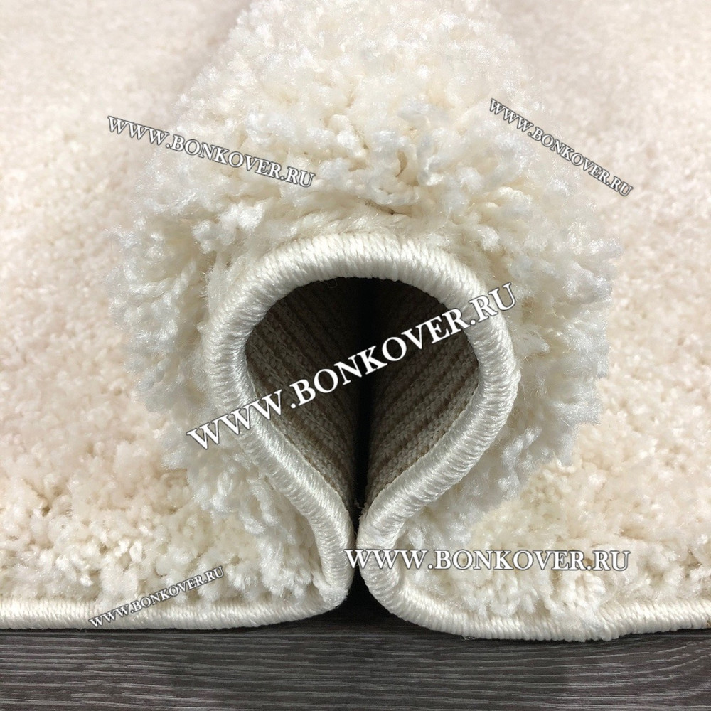 Длинноворсный ковер Белый Овал